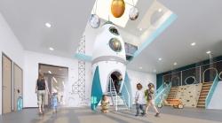 Детский сад в космическо-футуристическом стиле