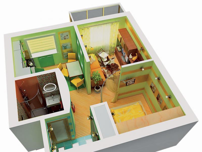 дизайн перепланировки однокомнатной квартиры в двухкомнатную фото #10